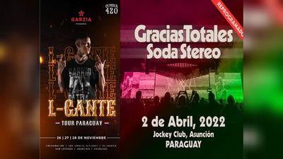 Shows en Paraguay: L-Gante en noviembre y Soda Stereo en abril