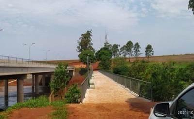 Concluyeron las obras complementarias del puente sobre río Monday