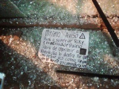 Disparan contra vivienda de jefe de seguridad de la cárcel y dejan un mensaje de amenaza
