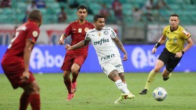 Palmeiras iguala con Bahía y Bragantino sube tercero