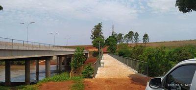 Concluyeron las obras adicionales del puente sobre el río Monday