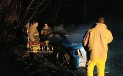 Incineran vehículo presuntamente utilizado para asesinar a suboficial