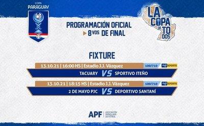 Se conocerán a dos clasificados más a cuartos de la Copa Paraguay