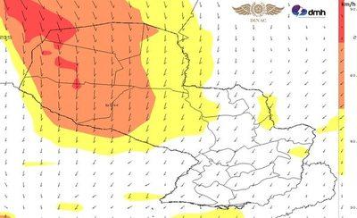 Alerta por viento norte de unos 80 km/h en parte del Chaco