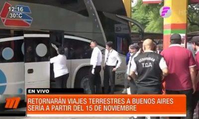 Retornarán los viajes terrestres a Buenos Aires