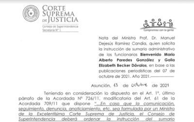Pandora Papers: Corte ordena sumario para funcionario que habilitó offshore