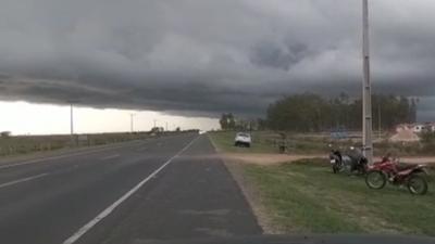 Fuerte temporal afecta departamentos del Sur del país