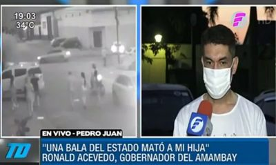 """Ronald Acevedo: """"Una bala del Estado mató a mi hija"""""""