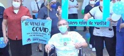 Crónica / Luchó 104 días contra el virus y ganó la batalla
