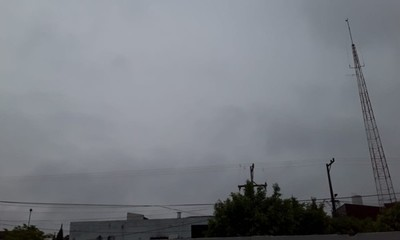 Jueves con clima cálido y con ocasionales tormentas eléctricas en Coronel Oviedo