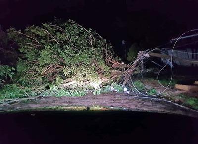 Tormenta caída anoche deja sin energía eléctrica a varias ciudades del Alto Paraná