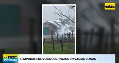 Tiempo severo ocasiona destrozos en varios puntos del país