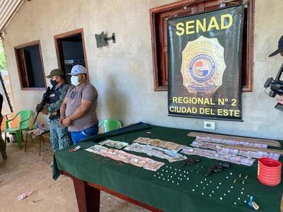 Otra «incautación récord» de la Senad Regional CDE: encontraron 11,42 gramos