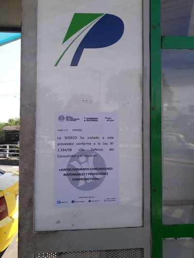 Sedeco realiza controles aleatorios para verificar carteles indicadores de precio en estaciones de servicio
