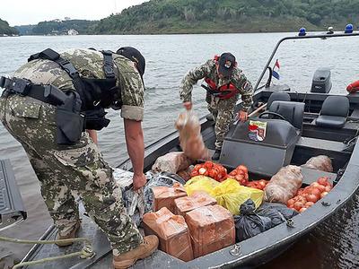 Frenan ingreso de mercaderías de contrabando ingresados desde Argentina