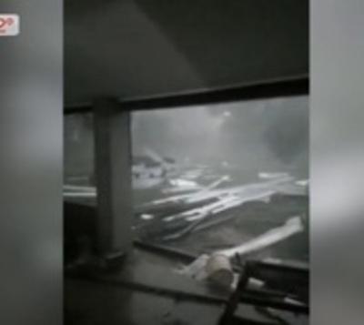 Destrozos y heridos tras temporal en varios puntos del país