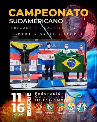 Oro y plata para la esgrima paraguaya en el Sudamericano