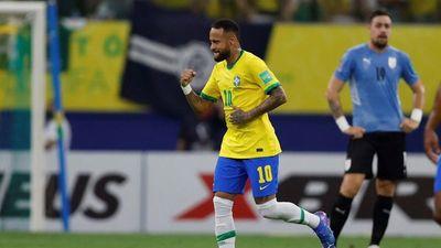 Brasil golea a una floja Uruguay