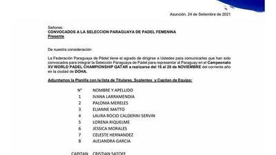 Paraguay a la cita mundialista de pádel
