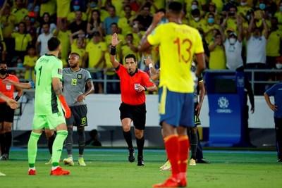 Colombia y Ecuador empatan en un juego marcado por las decisiones de VAR