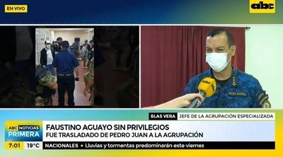 "Aguayo pasa de ""celda VIP"" a la Agrupación"