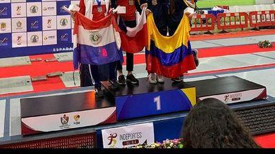 Montserrat Viveros conquista tercera medalla para Paraguay