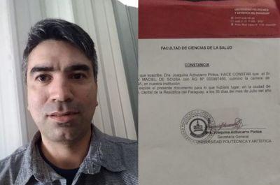 UPAP no entrega título a egresado de la facultad de medicina de Pedro Juan Caballero