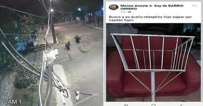 La Nación / Inseguridad en Roberto L. Pettit: roban hasta basureros y los venden en Facebook