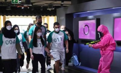 """Organizan con éxito """"El Juego Del Calamar"""" en Abu Dhabi"""