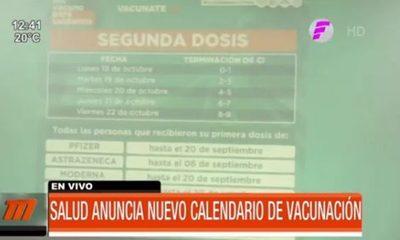 Cronograma de vacunación con segunda dosis de Sputnik V
