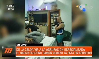 Beneficios del narco Faustino Aguayo en la Agrupación Especializada