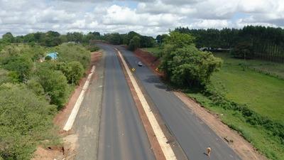 Ruta PY02: avanzan obras de duplicación en el tramo que conecta Coronel Oviedo con Caaguazú