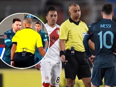 Messi estalla contra árbitro brasileño