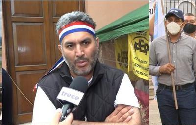 Gremios docentes suspenden huelga de hambre, pero protestas seguirán