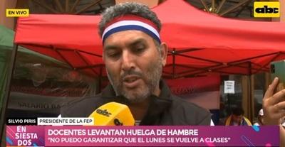 Docentes levantan huelga de hambre y analizarán continuidad de protesta