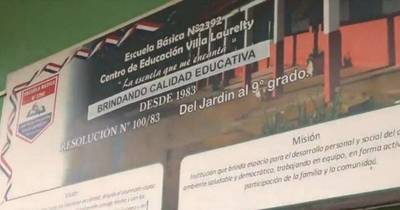 La Nación / San Lorenzo: roban escuela por cuarta vez en 15 días, también saquearon iglesia y a vecinos