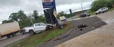 Triple choque dejó un fallecido y heridos en la ciudad de 25 de Diciembre