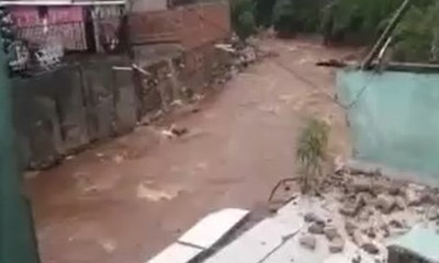 San Lorenzo: Temporal destrozó vivienda
