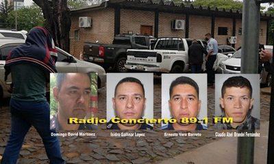 Fiscal imputó a cuatro policías por varios hechos punibles y pidió la prisión de todos ellos
