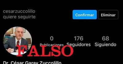 La Nación / El vicepresidente de la Corte, César Garay, denunció cuenta falsa en Instagram