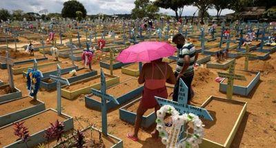 Brasil registra 570 muertes por Covid en 24 horas