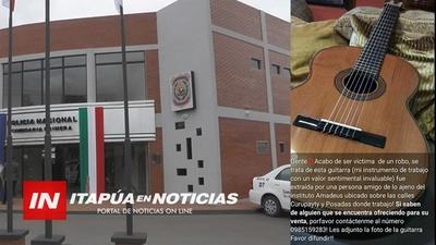 HURTAN UNA GUITARRA EN EL CENTRO DE ENCARNACIÓN.