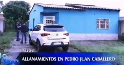 Allanan vivienda en Pedro Juan por el caso de asesinato de policía