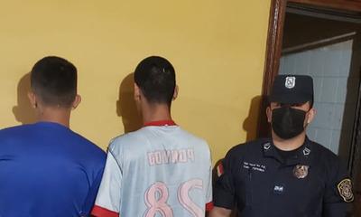 Entraron a robar en una casa y fueron detenidos en Coronel Oviedo