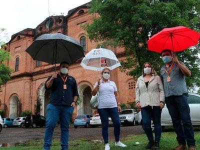 Técnicos del MOPC verificaron condiciones del muro de la Iglesia de La Encarnación