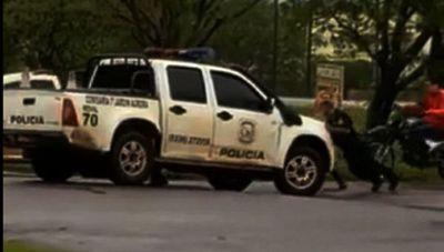 Empujan móvil mientras narcos exhiben poderío en Pedro Juan Caballero