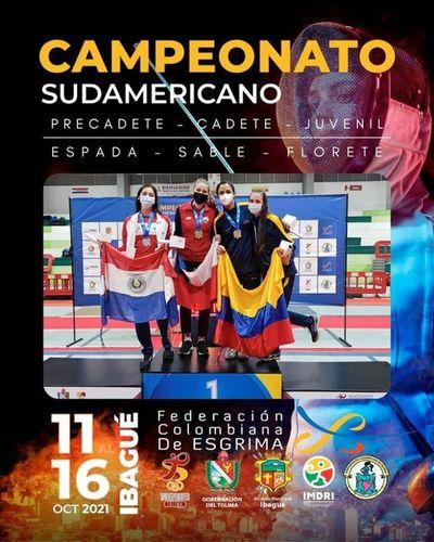 Paraguay suma una medalla de plata en Sudamericano de Esgrima
