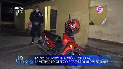Se hicieron pasar por delivery, robaron celular y fueron detenidos