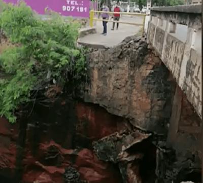 Lambaré: por prevención cierran media calzada de puente