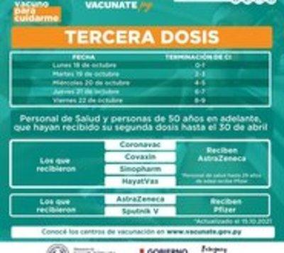 Ponen en marcha el calendario de vacunación con tercera dosis